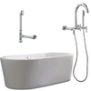 Giagni 67-in x 31-3/4-in Ventura White Oval Skirted Tub