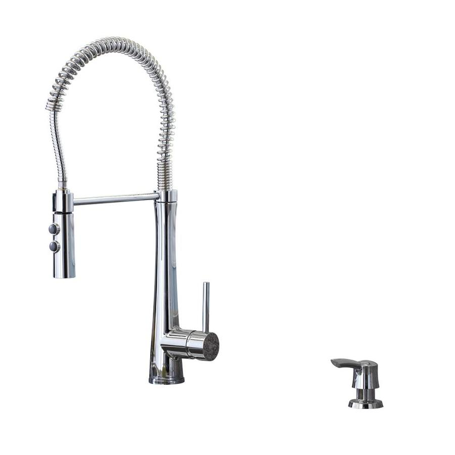 Shop Giagni Fresco Polished Chrome Pull Down Kitchen Faucet At