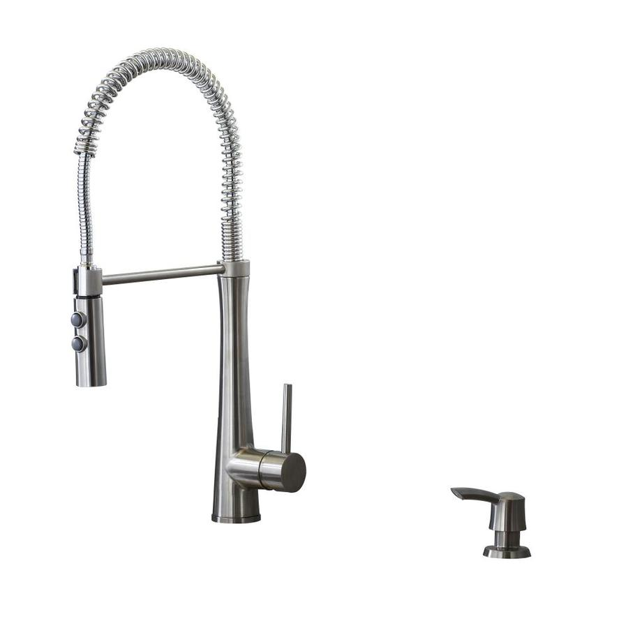 Shop Giagni Fresco Stainless Steel 1 Handle Pull Down Kitchen Faucet At Lowes Com