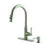 Giagni Coralo Stainless Steel 1-Handle Pull-Down Kitchen Faucet
