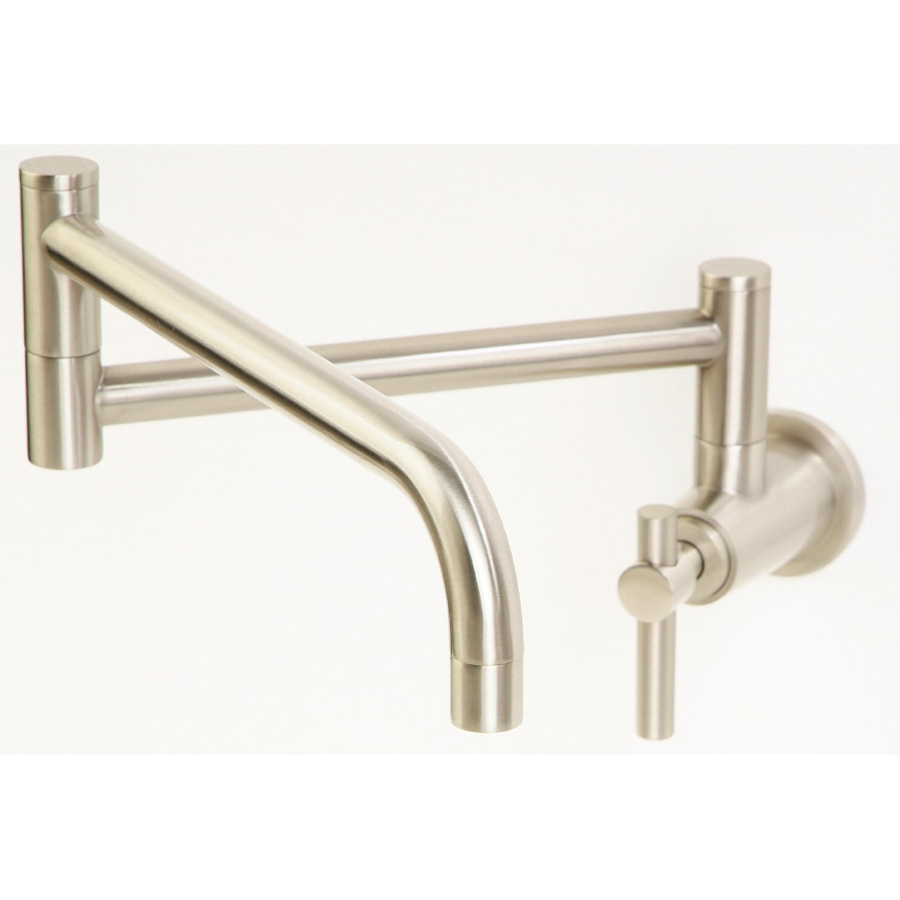 Pot Sink Faucet : ... Steel 1-Handle Pot Filler Wall Mount Kitchen Faucet at Lowes.com