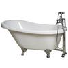 "Giagni 60"" x 30-3/8"" Messina White Oval Clawfoot Tub"