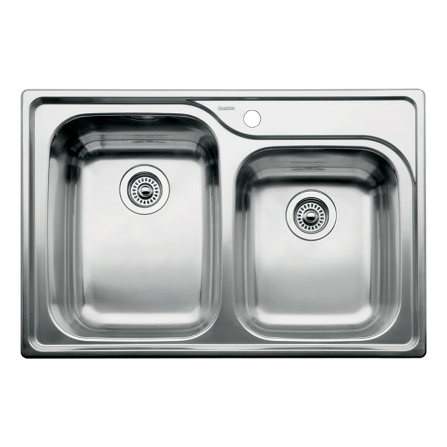 Drop In Kitchen Sink : ... 33-in Stainless Steel Double-Basin Drop-in Kitchen Sink at Lowes.com