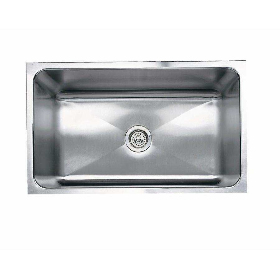 Kitchen Sinks Undermount Stainless Steel : ... Stainless Steel Single-Basin Undermount Kitchen Sink at Lowes.com