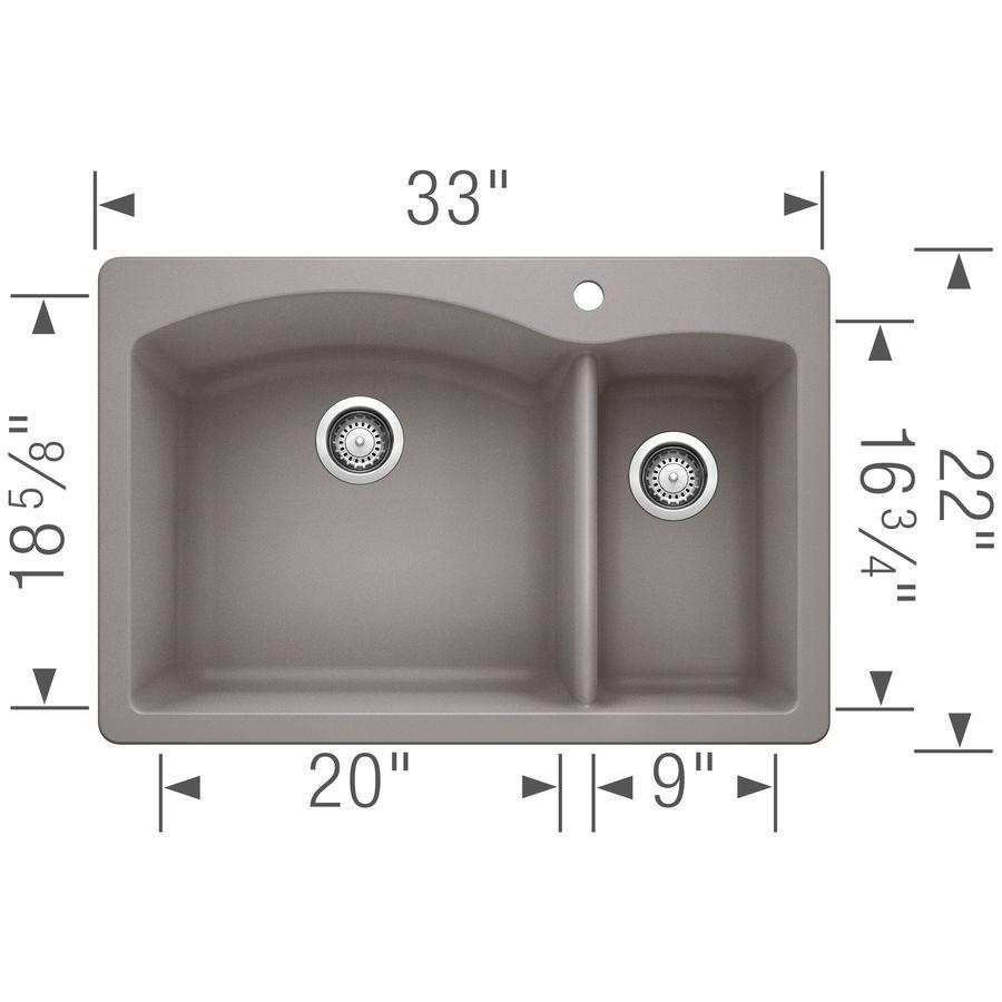 Blanco Drop In Sink : BLANCO Diamond Double-Basin Drop-In or Undermount Granite Kitchen Sink ...