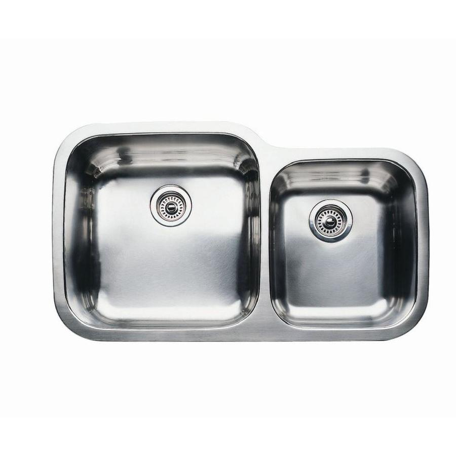 BLANCO Supreme Stainless Steel Double-Basin Undermount Kitchen Sink ...