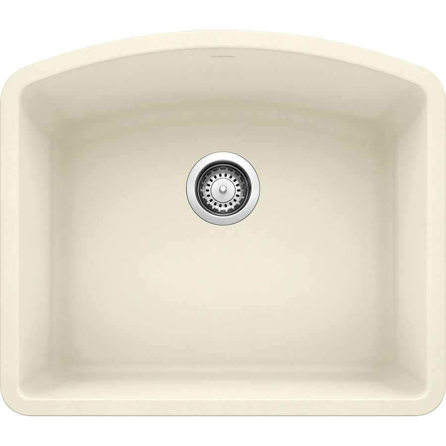 shop blanco single basin undermount granite kitchen sink at lowes