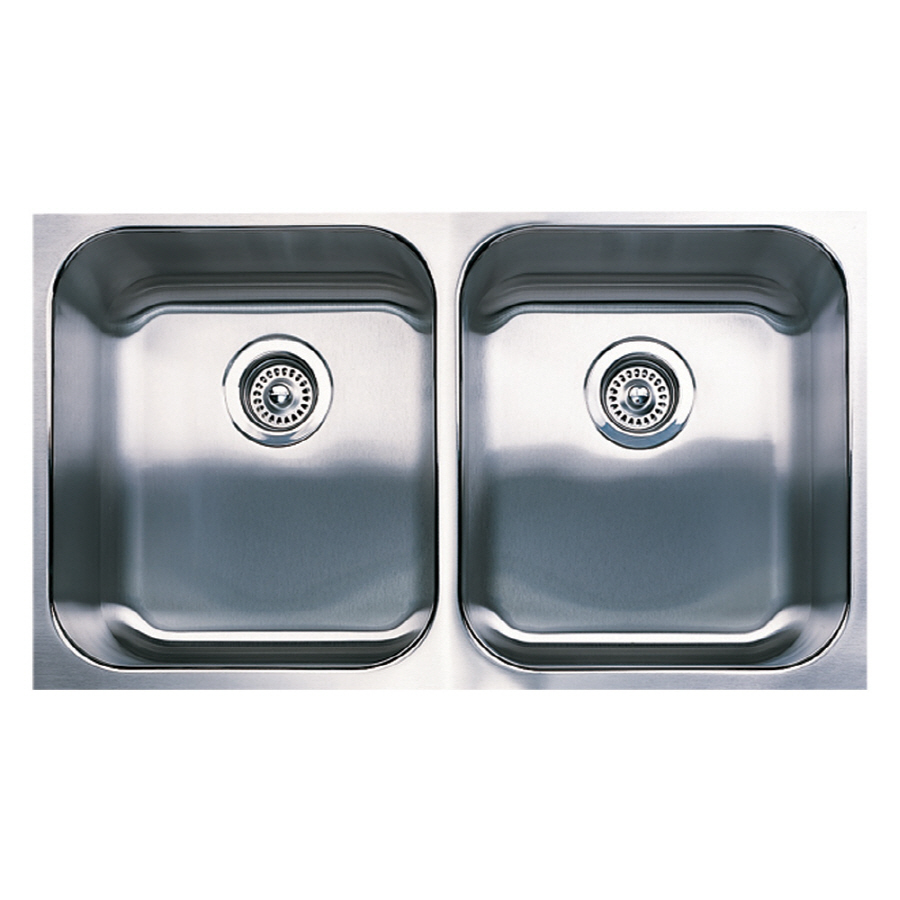 Undermount Stainless Steel Kitchen Sink : ... plus 18 gauge double basin undermount stainless steel kitchen sink