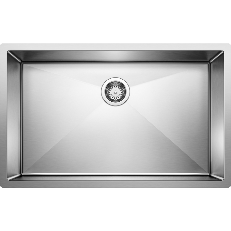 Blanco Corner Sink : Shop BLANCO Stainless Steel Single-Basin Undermount Kitchen Sink at ...