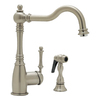 BLANCO Blancograce Satin Nickel 1-Handle High-Arc Kitchen Faucet
