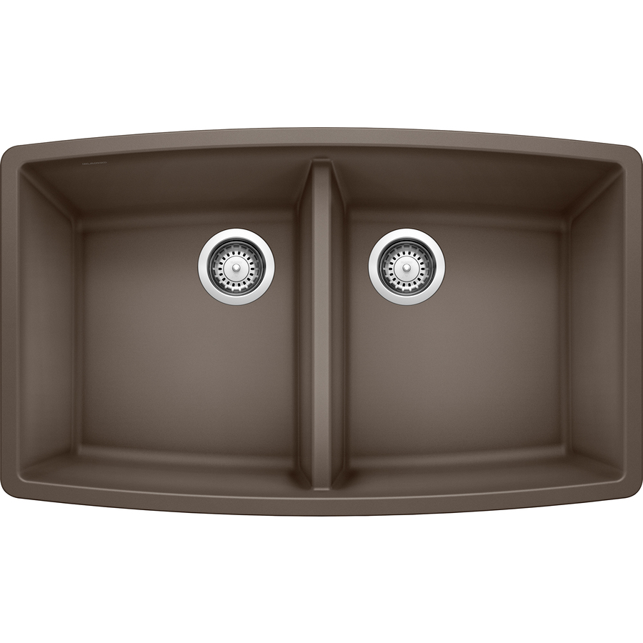 Shop BLANCO Performa Cafe Brown Double-Basin Granite Undermount ...