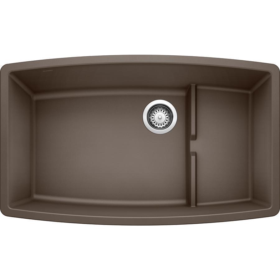 Shop BLANCO Performa 19.5-in x 32-in Cafe Brown Single-Basin Granite ...