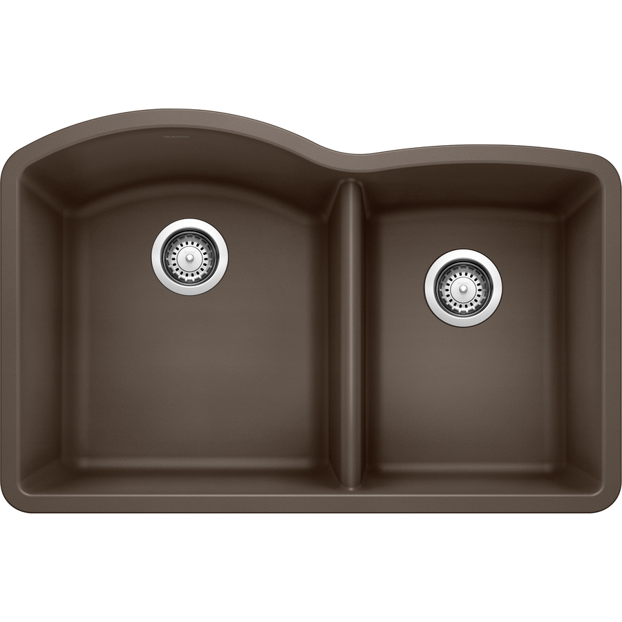shop blanco 20 843 in x 32 in cafe brown basin granite undermount kitchen sink at