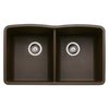 BLANCO Diamond 19.25-in x 32-in Double-Basin Granite Undermount Residential Kitchen Sink