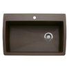 BLANCO Diamond 22-in x 33.5-in Single-Basin Granite Drop-In or Undermount 1-Hole Residential Kitchen Sink