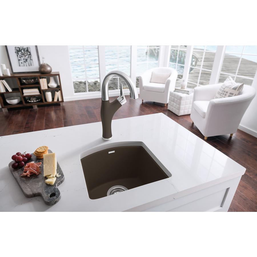 Blanco Sink Granite : Shop BLANCO Diamond Single-Basin Drop-in Granite Bar Sink at Lowes.com