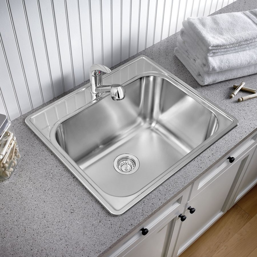 Drop In Stainless Steel Utility Sink : Shop BLANCO Brushed Satin Stainless Steel Laundry Sink at Lowes.com