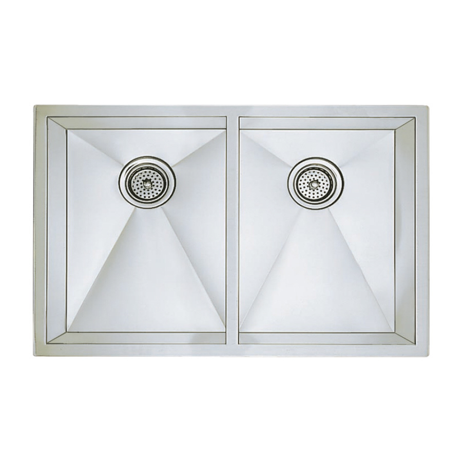 Blanco Stainless Sinks : Shop BLANCO Precision Stainless Steel Double-Basin Stainless Steel ...