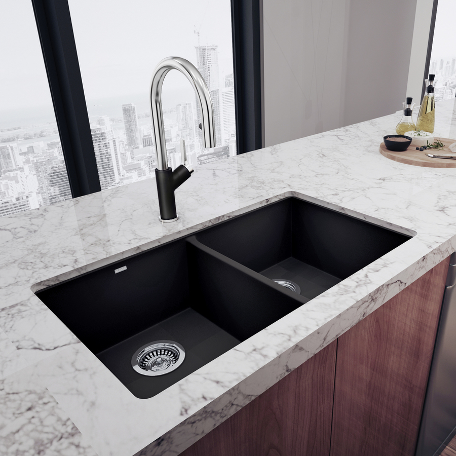 Blanco Granite Kitchen Sink White Gold