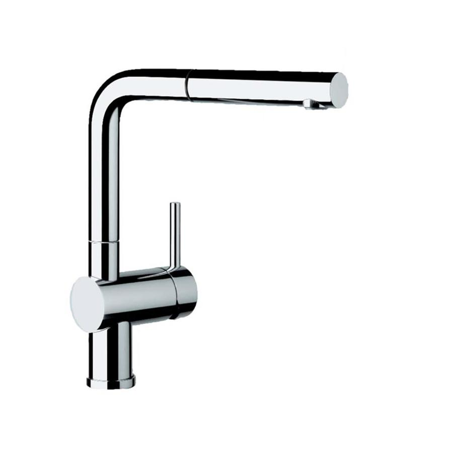 shop blanco linus chrome pull out kitchen faucet at lowes