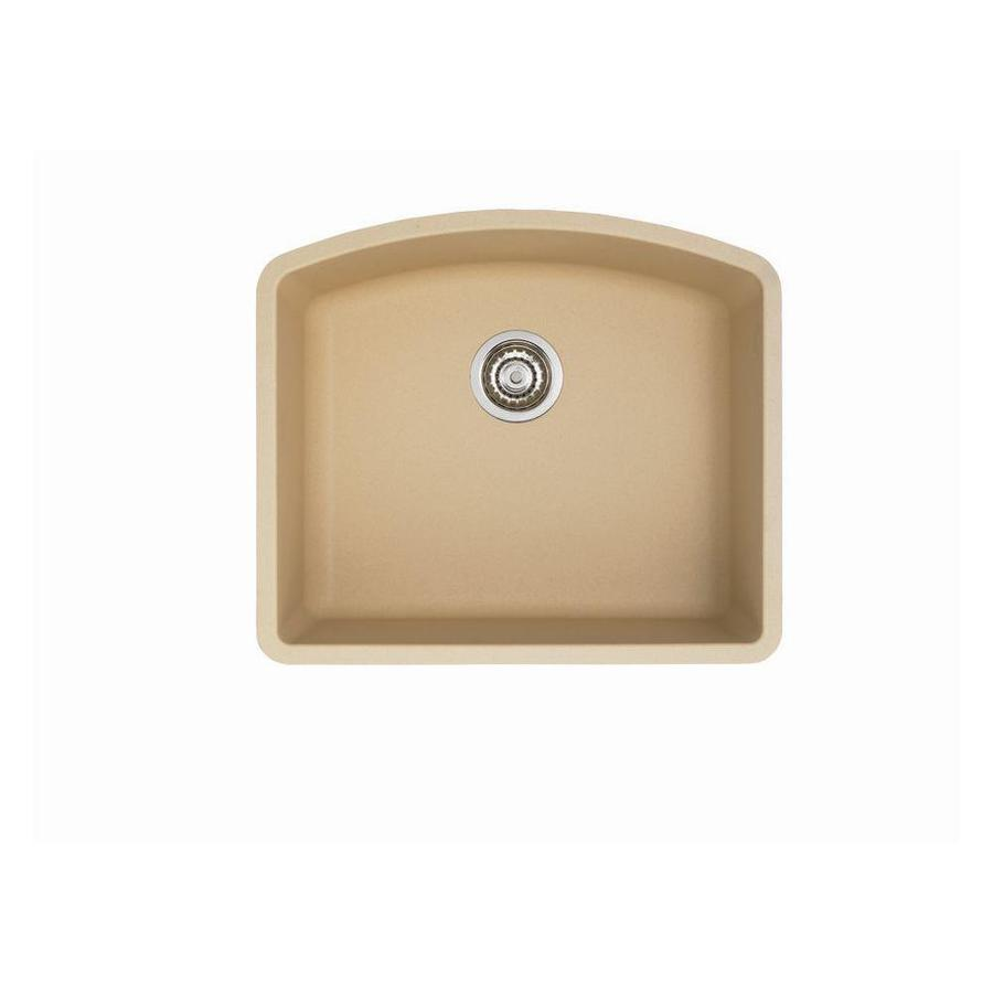 Shop BLANCO Diamond Biscotti Single-Basin Undermount Kitchen Sink at ...