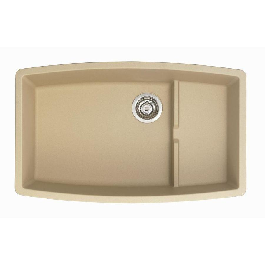 Shop BLANCO Performa Biscotti Double-Basin Undermount Kitchen Sink at ...