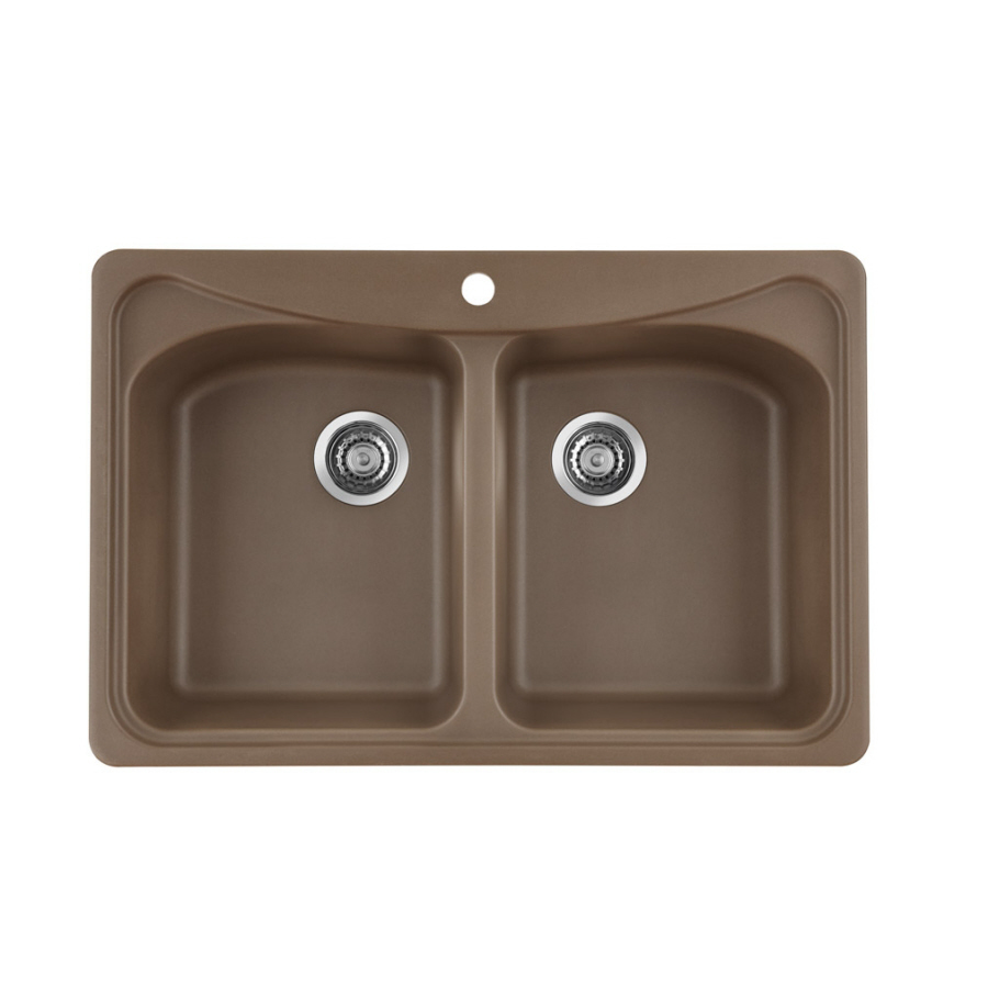 Shop BLANCO Mystyle Double-Basin Drop-In Composite Kitchen Sink at ...