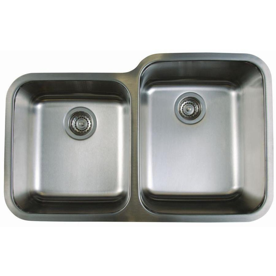 Undermount Stainless Steel Kitchen Sink : ... stellar 18 gauge double basin undermount stainless steel kitchen sink