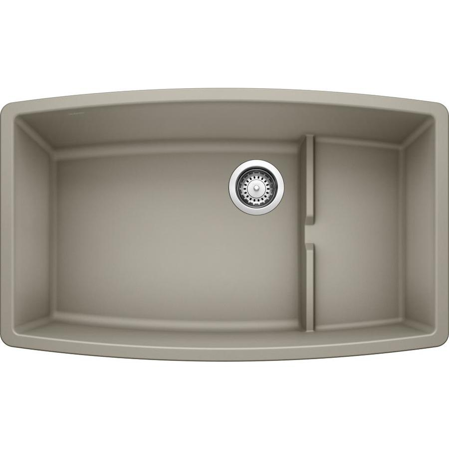 Shop BLANCO Performa Truffle Double-Basin Undermount Kitchen Sink at ...