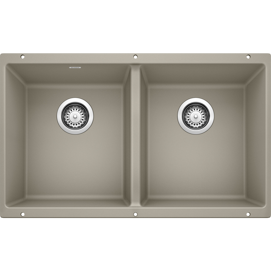 Shop BLANCO Precis Double-Basin Undermount Granite Kitchen Sink at ...
