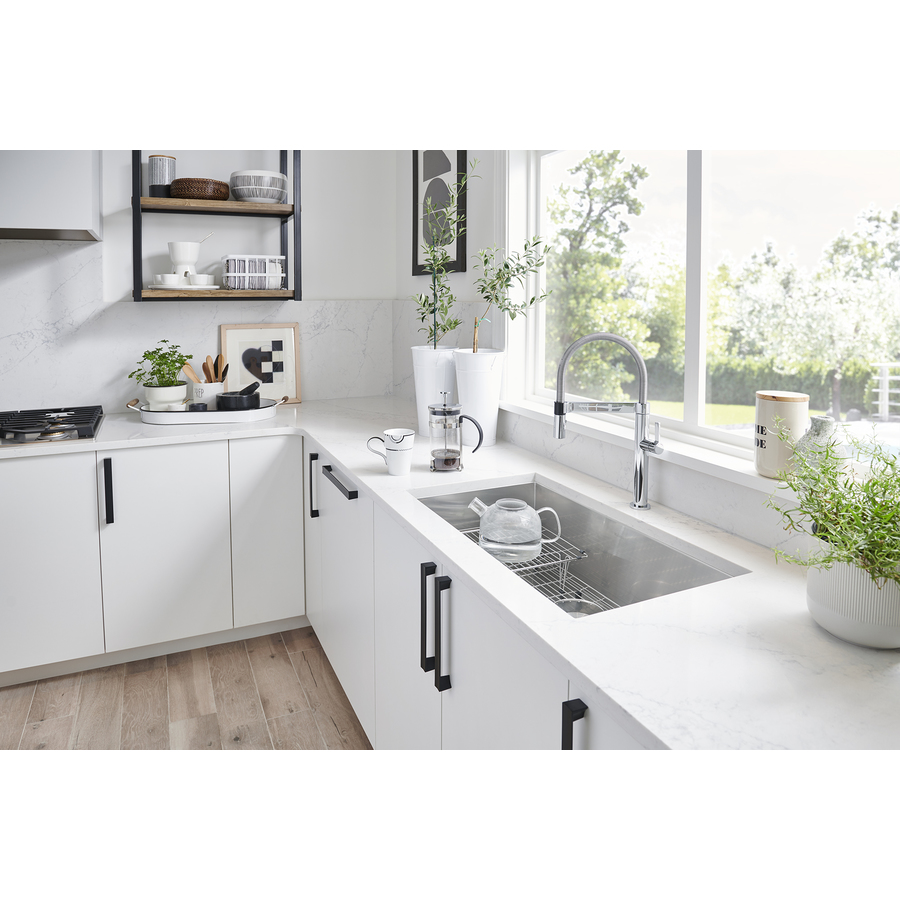 shop blanco quatrus 20 5 in x 37 5 in stainless steel