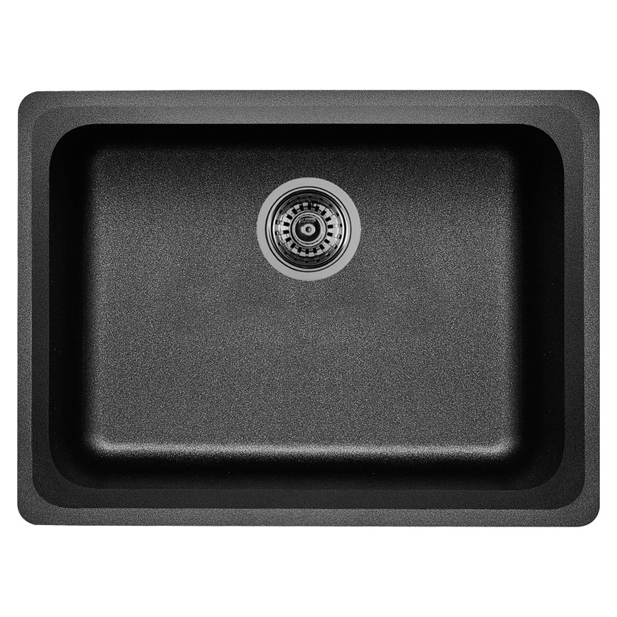 Shop BLANCO Vision Single-Basin Undermount Granite Kitchen Sink at ...