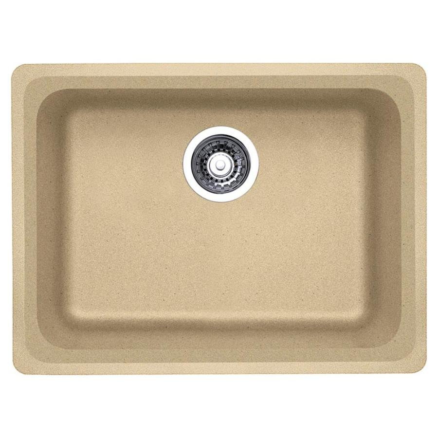 ... in Biscotti Single-Basin Granite Undermount Kitchen Sink at Lowes.com