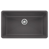 BLANCO Precis 18.75-in x 32-in Single-Basin Granite Undermount Residential Kitchen Sink
