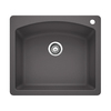BLANCO Diamond 22-in x 25-in Single-Basin Granite Drop-In or Undermount 1-Hole Residential Kitchen Sink