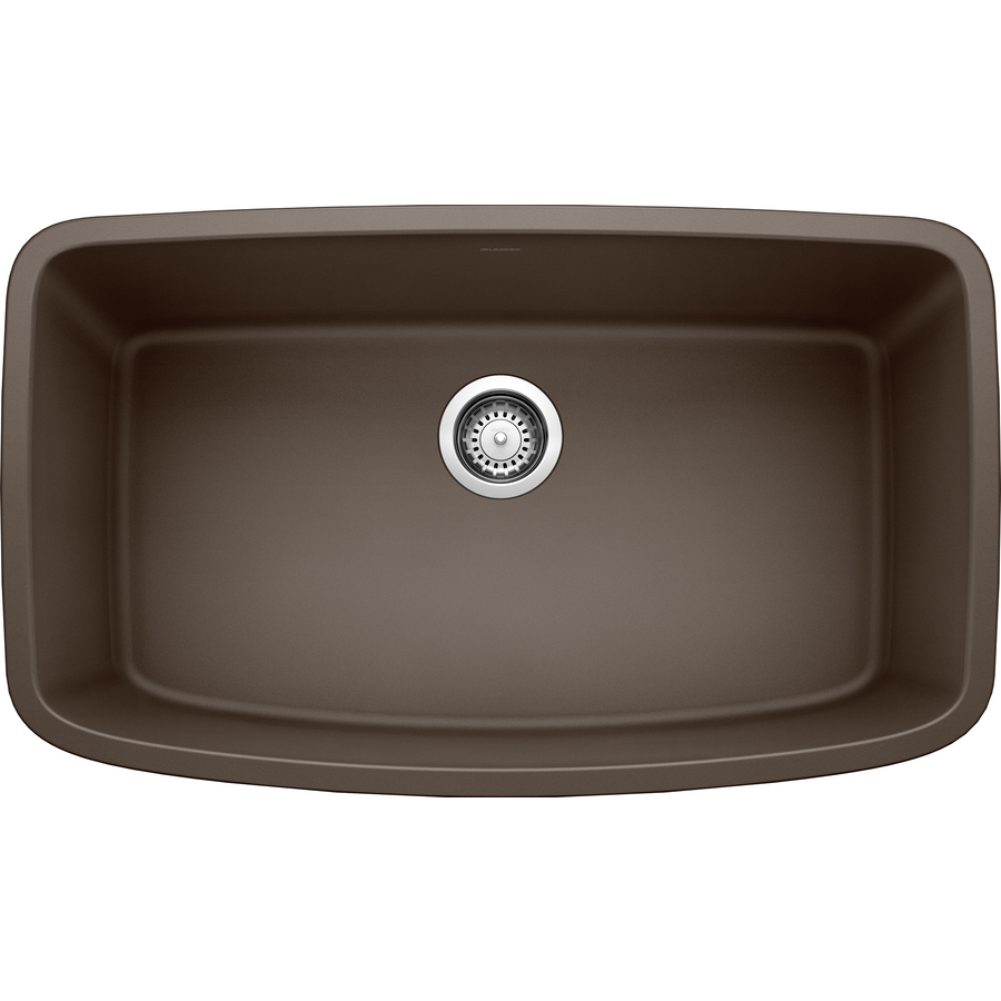 Shop BLANCO Valea Cafe Brown Single-Basin Undermount Kitchen Sink at ...