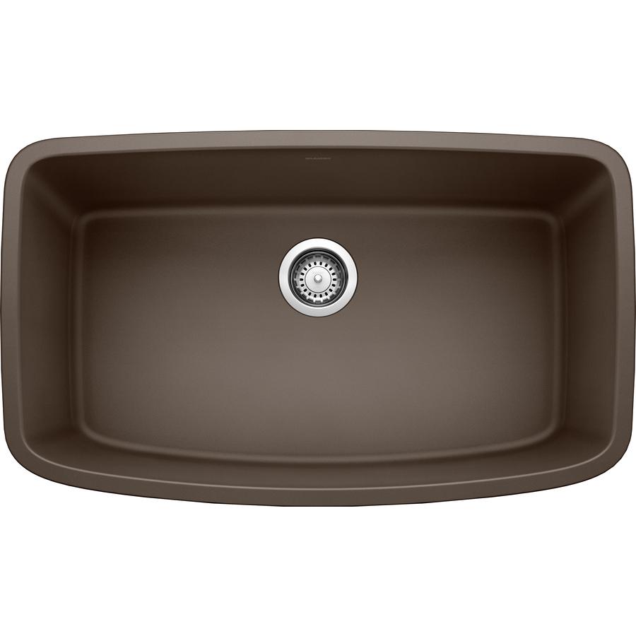 Granite Sinks Blanco : Shop BLANCO Valea Cafe Brown Single-Basin Undermount Kitchen Sink at ...
