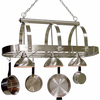 Cale 16.25-in W 3-Light Brushed Nickel Hardwired Lighted Pot Rack with Shade