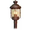 Karluk 24.25-in H Burnished Bronze Standard Post Light