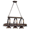 Cale 16.25-in W 3-Light Antique Bronze Hardwired Lighted Pot Rack with Shade