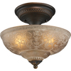 Portfolio 13-3/4-in Copper Ceiling Flush Mount