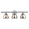 Portfolio 3-Light Chrome Bathroom Vanity Light