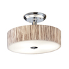 allen + roth 18-in Polished Chrome Clear Glass Semi-Flush Mount Light