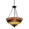 Portfolio 27-in W Rust Tiffany Style Pendant Light
