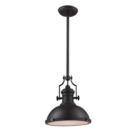 Portfolio 13-in W Oiled Bronze Pendant Light