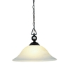 Westmore Lighting 17-in W Matte Black Pendant Light with White Shade