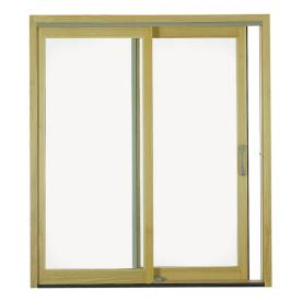Pella Clear Wood Sliding Patio Door With Screen At Lowes Patio Doors House