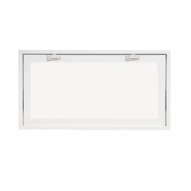 ThermaStar by Pella 32-in x 15-in 10 Series Tilting Vinyl Double Pane New Construction Basement Hopper Window
