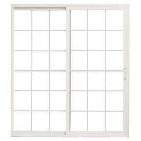 ThermaStar by Pella 6' Grid Vinyl Sliding Patio Door
