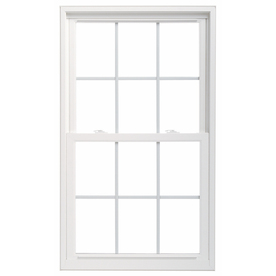 ThermaStar by Pella 25 Series Vinyl Double Pane Annealed New Construction Egress Double Hung Window (Rough Opening: 35.75-in x 59.75-in Actual: 35.5-in x 59.5-in)